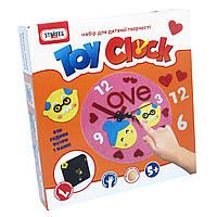 Часы из фетра Strateg Toy clock Любов на украинском SKL11-237456