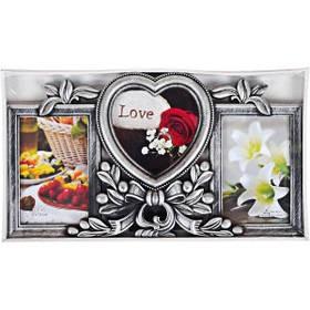 """Фоторамка - колаж """"Кохання"""", срібло, Рамка для фотографий """"Love"""""""
