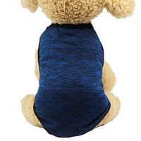 Майка для собак «Classic», синій, футболка для собак, одяг для собак дрібних і середніх порід, фото 1