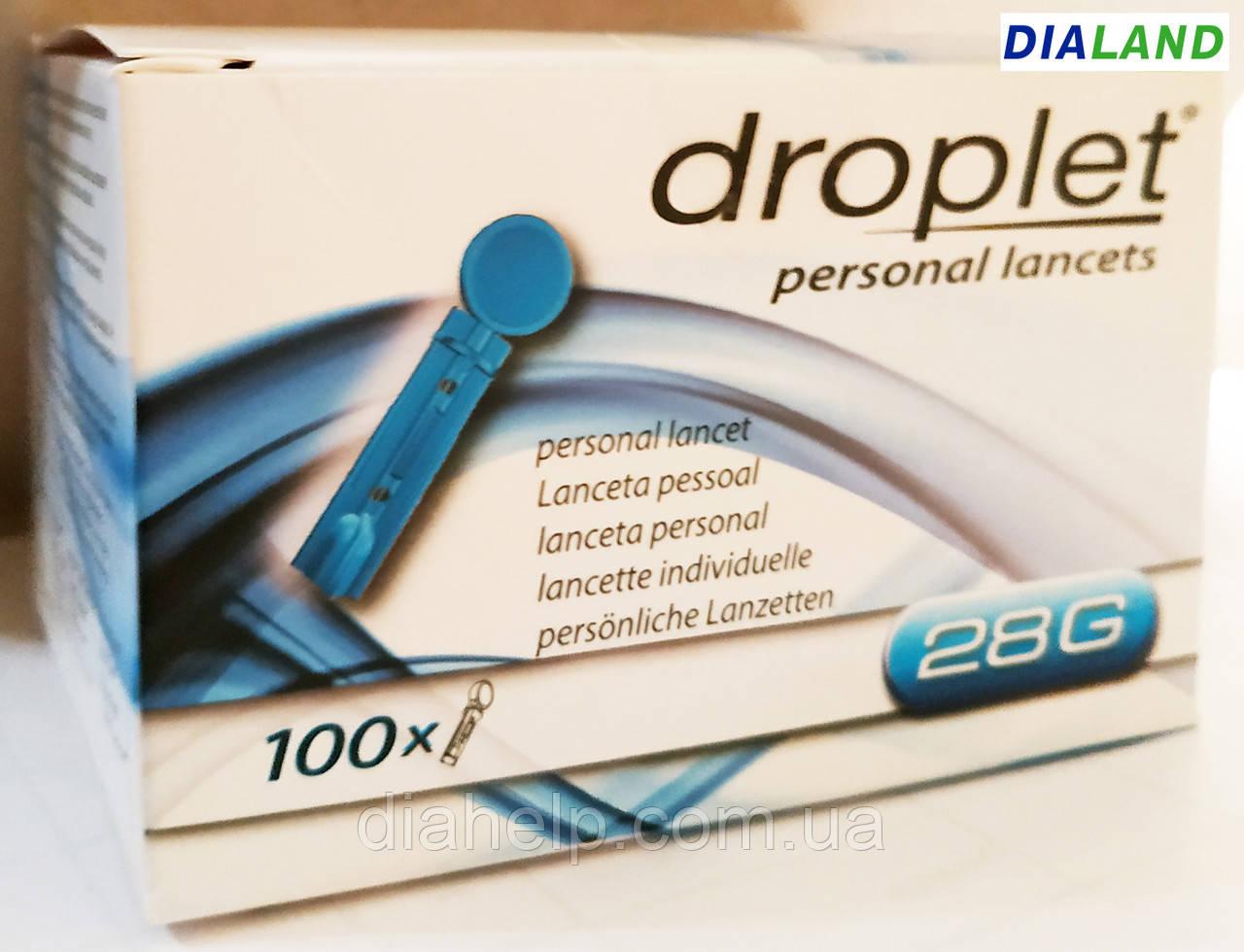 Ланцеты Дроплет (DROPLET) 28G - 100 штук
