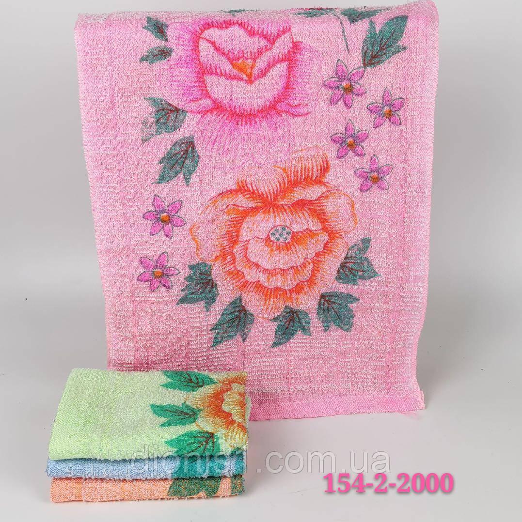 Кухонний рушник Троянда 100 шт в упаковці синтетика Розмір 30х60