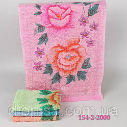 Кухонное полотенце Роза 100 шт в упаковке синтетика Размер 30х60