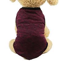 Майка для собак «Classic», бордовий, футболка для собак, одяг для собак дрібних і середніх порід, фото 1