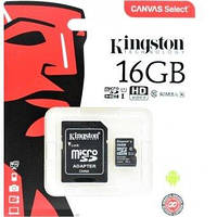 Micro SD 16Gb [Kingston] Canvas Select  80Mb/s