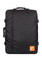 Рюкзак-сумка для ручной клади черная 55x40x20 см.44 л. МАУ