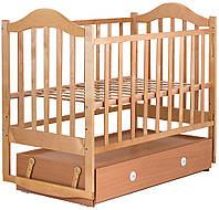Кроватка детская Babyroom Дина D304 маятник, ящик  лакированная, фото 1