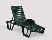Лежак Fisso зеленый