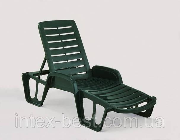 Лежак Fisso зеленый, фото 2