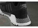 Мужские  кроссовки в стиле Adidas AF Primeknit Atric Black White, фото 7