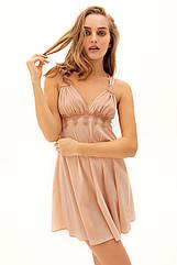 Сорочка нічна жіноча, бежевий, 42,ТМ Anabel Arto