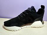 Мужские  кроссовки в стиле Adidas AF Primeknit Atric Black White, фото 4