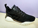 Мужские  кроссовки в стиле Adidas AF Primeknit Atric Black White, фото 2