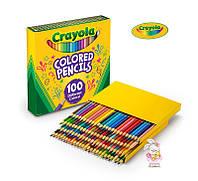Цветные карандаши Crayola 100 цветов Different Colored Pencil, большой набор карандашей для рисования Крайола