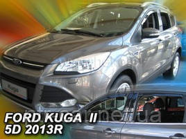 Дефлекторы окон (ветровики)  Ford KUGA II 5D 2012R-> 4шт (Heko)