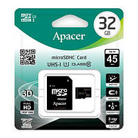 Micro SD 32Gb [Apacer] class 10  45Mb/s