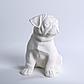 Декоративный Мопс керамика, декор для дома, Мопс, Белый (00630), фото 2