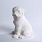 Декоративный Мопс керамика, декор для дома, Мопс, Белый (00630), фото 4
