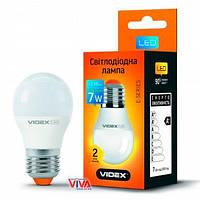 LED лампа светодиодная VIDEX G45e 7W E27 3000K 220V, фото 1