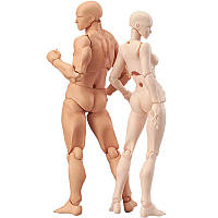 Подвижные фигурки, манекен человека. Статуэтки для художника с подставкой 13см, шарнирные фигурки