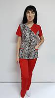 Костюм жіночий медичний Грациоз з сорочкової тканини Таїланд, фото 1