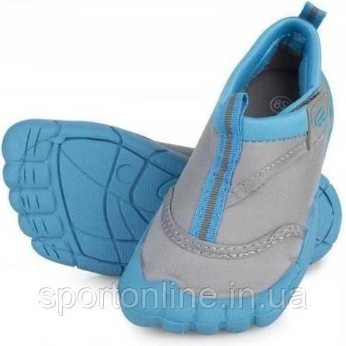 Аквашузы детские для мальчика (тапочки для пляжа) Spokey Reef, серый с голубым 28