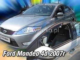 Дефлекторы окон (ветровики) Ford Mondeo 2007 -2013  4шт (Heko)