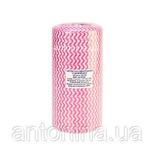 Салфетка 20х20см для маникюрного столика спанлейс в рулоне, розовая