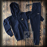 Спортивный мужской костюм Nike (Найк), темно-синий, код OW-2159