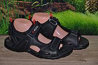 Сандалии кожа натуральная  М9 черные качество Ecco размеры 37 38 39 40 41 42 43 44 45