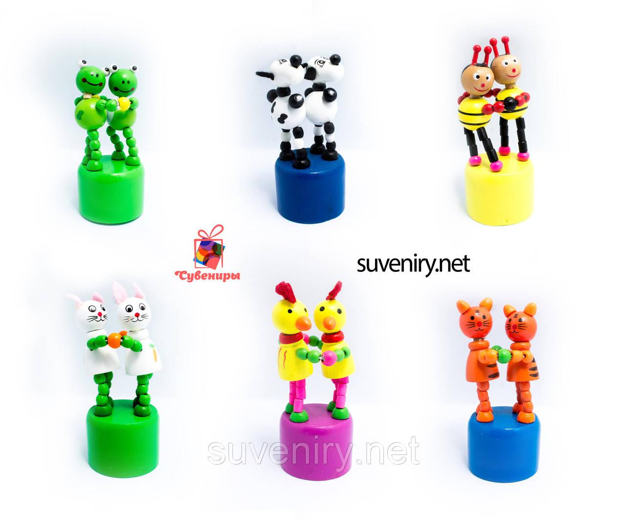 Детские танцующие деревянные игрушки