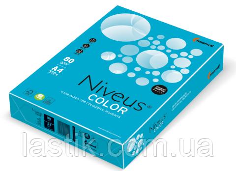 Бумага цветная интенсив, синяя, AB48, А4/80, 500 л.