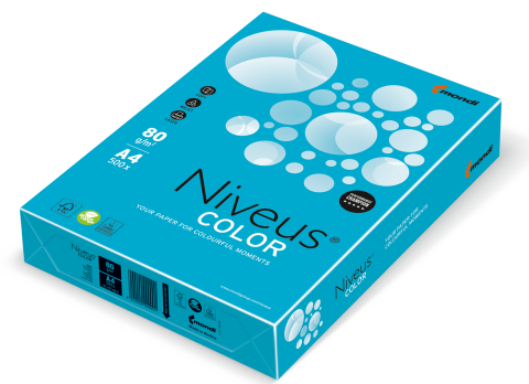 Бумага цветная интенсив, синяя, AB48, А4/80, 500 л., фото 2