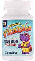 Vitables, Жевательные таблетки с иммунной смесью для детей, со вкусом ягод, 90 вегетарианских таблеток