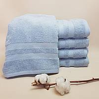 Банное полотенце махра хлопок Нежный василёк