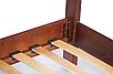 Кровать деревянная Венера 90-200 см (орех), фото 2