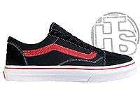 Женские кеды Vans Old Skool 25TH Anniversary Black White Red VN0A38G1RCV