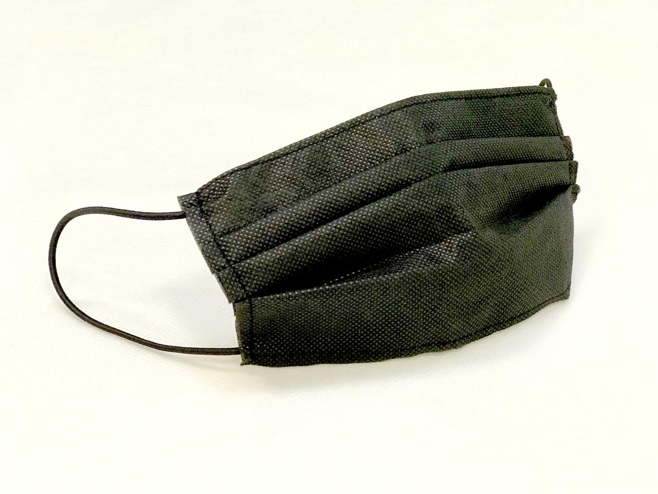 Набор защитных масок со складками черного цвета (упаковка  5 шт.)
