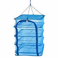 Сушилка для рыбы, грибов, сухофруктов, 3 полочки, защитит от насекомых 40*40*70 см