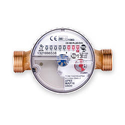 Счетчик воды Maddalena CD 15 SD PLUS EVO MID R80H-R40V одноструйный сухоход (антимагнит)