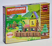 Магнитный конструктор - Домик 40 деталей (Magformers LQ631)