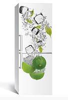 Виниловая наклейка на холодильник ReD Лайм и лед, 65х200 см