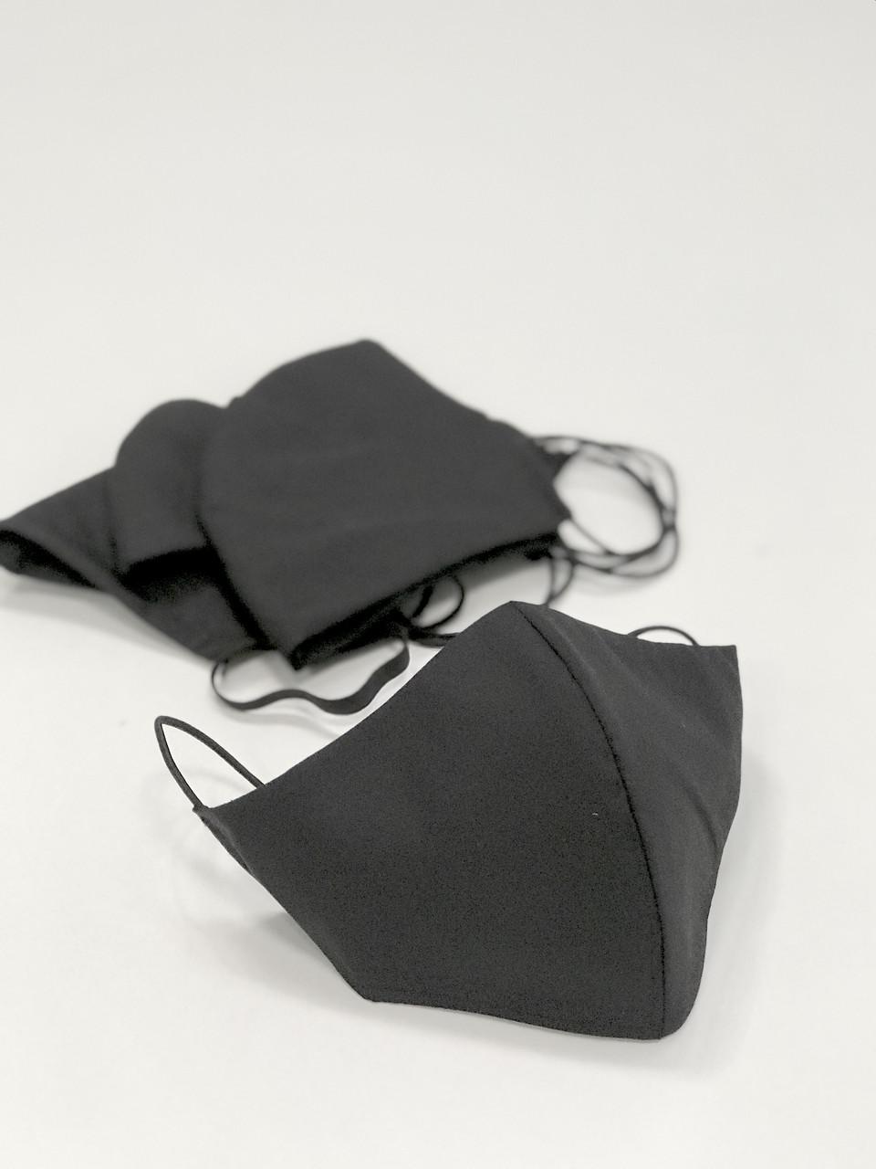 Маска защитная многоразовая хлопок черного цвета