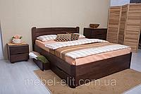 Кровать София с ящиками 140-200 см (орех темный)