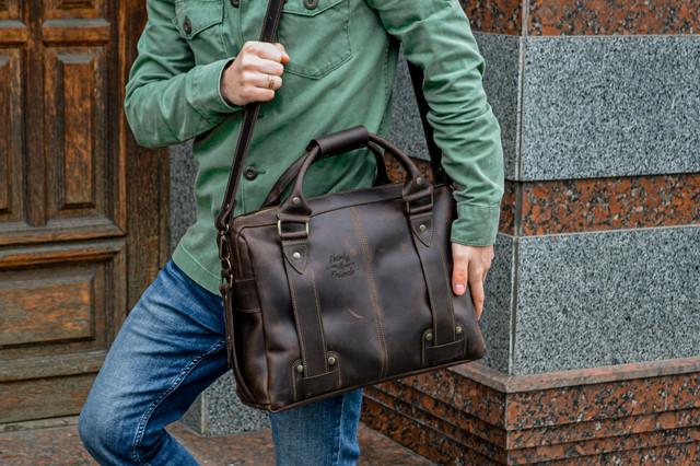 Кожаные мужские сумки, портфели