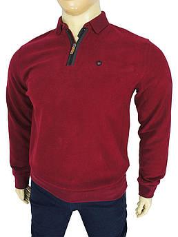 Бавовняний чоловічий светр у великому розмірі Better Life 952 B bordo зм