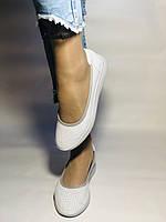 Женские туфли -балетки с перфорацией на утолщенной подошве. Натуральная кожа. Размер 36,37,38,39,40,41.Vellena, фото 2