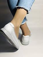 Женские туфли -балетки с перфорацией на утолщенной подошве. Натуральная кожа. Размер 36,37,38,39,40,41.Vellena, фото 3