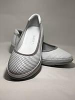 Женские туфли -балетки с перфорацией на утолщенной подошве. Натуральная кожа. Размер 36,37,38,39,40,41.Vellena, фото 5