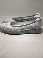 Женские туфли -балетки с перфорацией на утолщенной подошве. Натуральная кожа. Размер 36,37,38,39,40,41.Vellena, фото 6