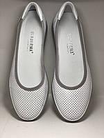 Женские туфли -балетки с перфорацией на утолщенной подошве. Натуральная кожа. Размер 36,37,38,39,40,41.Vellena, фото 8